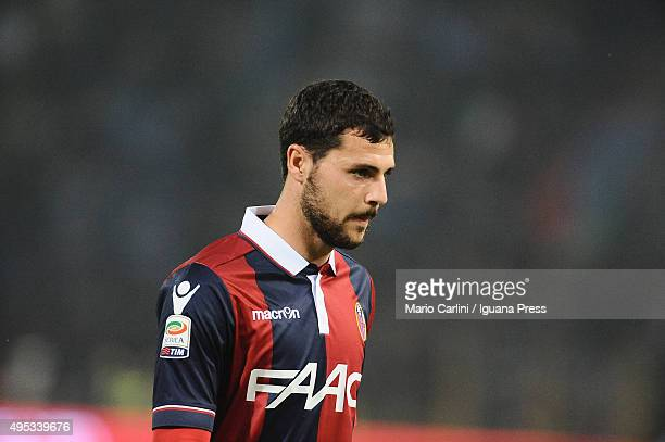 Mattia Destro of Bologna FC looks on during the Serie A match between Bologna FC and FC Internazionale Milano at Stadio Renato Dall'Ara on October 27...