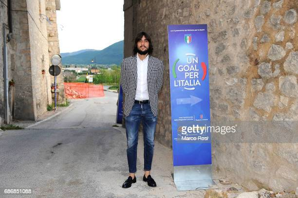 Mattia Perin attends 'Un Goal per l'Italia' Event on May 22 2017 in Norcia Italy