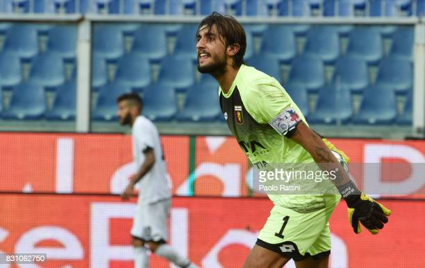 Mattia Perin during the TIM Cup match between Genoa CFC and AC Cesena at Stadio Luigi Ferraris on August 13 2017 in Genoa Italy