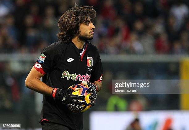 Mattia Perin of Genoa CFC in action during the Serie A match between Genoa CFC and Juventus FC at Stadio Luigi Ferraris on November 27 2016 in Genoa...