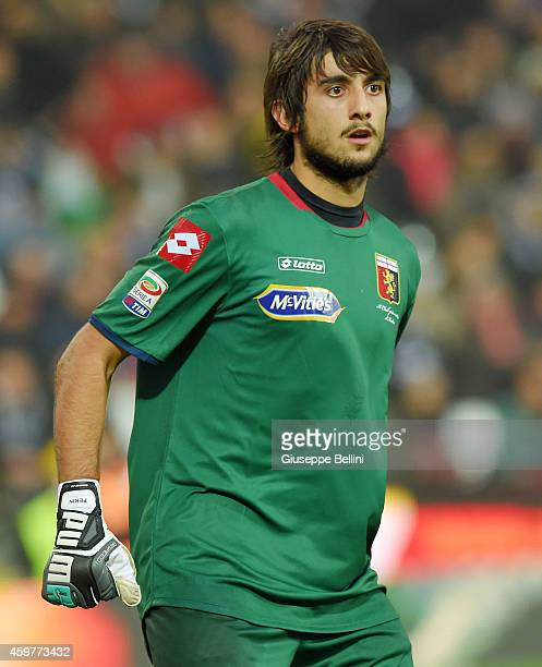 Mattia Perin of Genoa during the Serie A match between AC Cesena and Genoa CFC at Dino Manuzzi Stadium on November 30 2014 in Cesena Italy