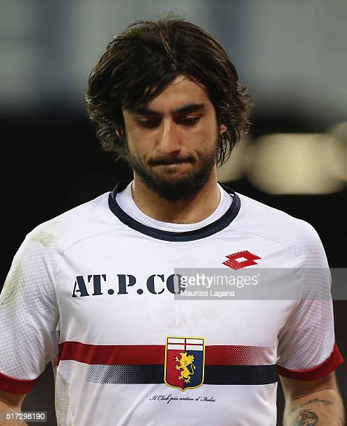 Mattia Perin of Genoa during the Serie A match between SSC Napoli and Genoa CFC at Stadio San Paolo on March 20 2016 in Naples Italy