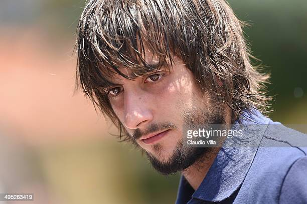 Mattia Perin of Italy during a training session at Coverciano on June 2 2014 in Florence Italy