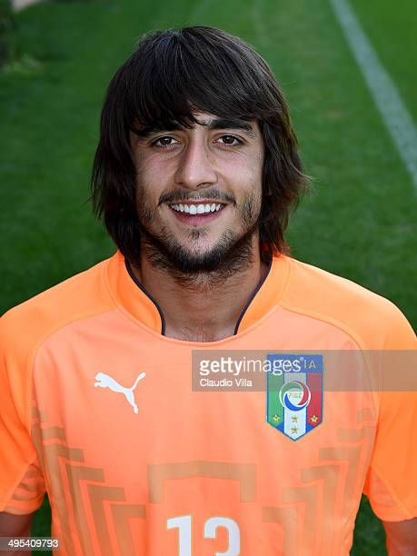 Mattia Perin poses during Italy Official Portraits for Brazil 2014 World Cup at Coverciano on June 3 2014 in Florence Italy