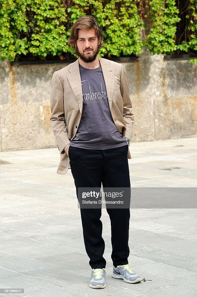 Mattia Zaccaro Garau attends 'Il Pretore' Photocall at Apollo Spazio Cinema on April 2, 2014 in Milan, Italy.