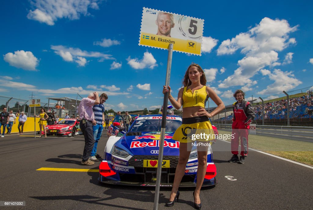 Mattias Ekstöm of Swiden and Audi Sport Team Abt Sportsline racing driver before the Hungarian DTM race on June 18, 2017 in Mogyoród, Hungary.