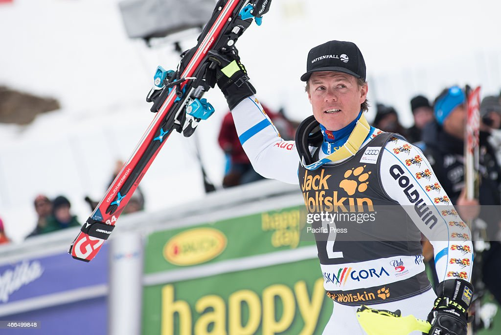<a gi-track='captionPersonalityLinkClicked' href=/galleries/search?phrase=Mattias+Hargin&family=editorial&specificpeople=4131687 ng-click='$event.stopPropagation()'>Mattias Hargin</a> (SWE) celebrating his third place on Slalom race at 54th Vitranc Cup 2015 in Slovenia.
