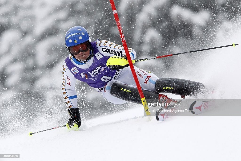 <a gi-track='captionPersonalityLinkClicked' href=/galleries/search?phrase=Mattias+Hargin&family=editorial&specificpeople=4131687 ng-click='$event.stopPropagation()'>Mattias Hargin</a> of Sweden competes during the Audi FIS Alpine Ski World Cup Men's Slalom on January 17, 2015 in Wengen, Switzerland.