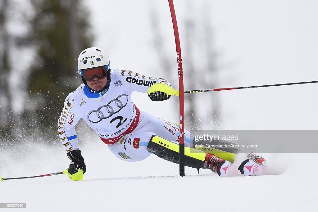 <a gi-track='captionPersonalityLinkClicked' href=/galleries/search?phrase=Mattias+Hargin&family=editorial&specificpeople=4131687 ng-click='$event.stopPropagation()'>Mattias Hargin</a> of Sweden competes during the FIS Alpine World Ski Championships Men's Slalom on February 15, 2015 in Vail/Beaver Creek, USA.