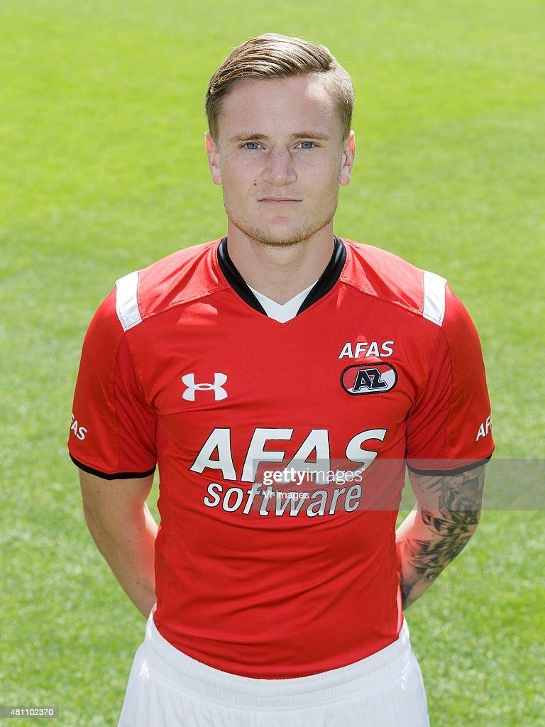 Mattias Johansson during the team presentation of AZ Alkmaar on July 17, 2015 at Afas Stadium in Alkmaar, The Netherlands