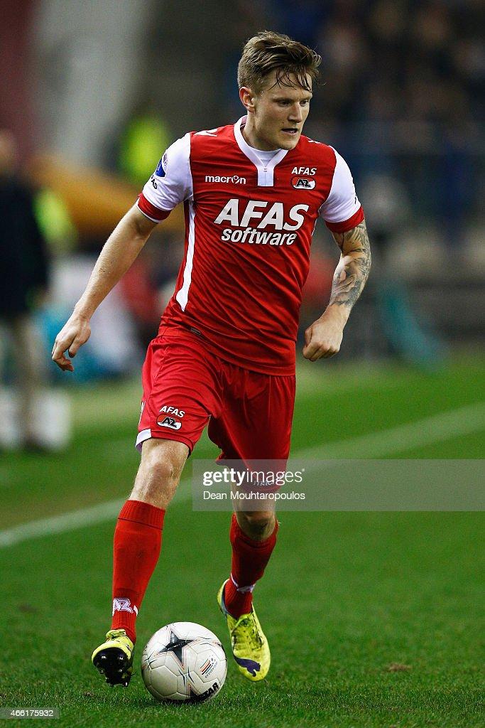 Mattias Johansson of AZ in action during the Dutch Eredivisie match between Vitesse Arnhem and AZ Alkmaar held at Gelredome on March 13, 2015 in Arnhem, Netherlands.