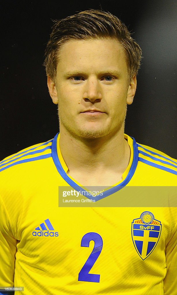 Mattias Johansson of Sweden lines up prior to the U-21 International match between England U-21 and Sweden U-21 at Banks' Stadium on February 5, 2013 in Walsall, England.