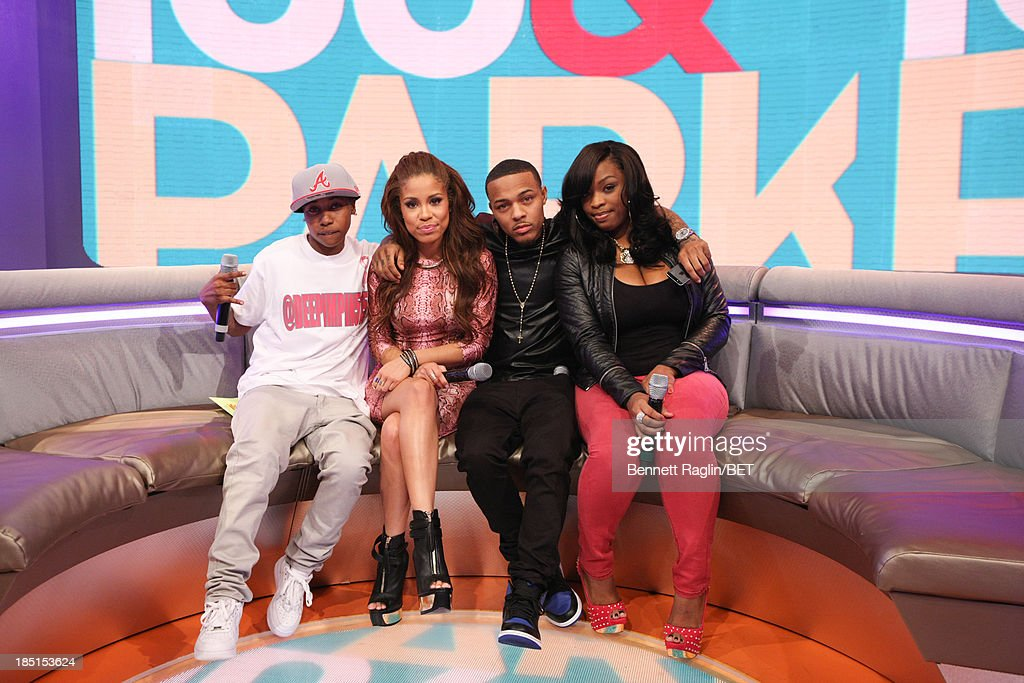 Mattie 'Dee Pimpin' Brown, Keshia Chante, <a gi-track='captionPersonalityLinkClicked' href=/galleries/search?phrase=Bow+Wow+-+Rapper&family=editorial&specificpeople=211211 ng-click='$event.stopPropagation()'>Bow Wow</a>, and Keyonnah Abrams attend 106 & Park at 106 & Park studio on October 17, 2013 in New York City.