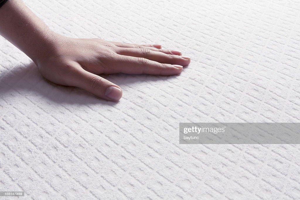 Mattresses on the human hand