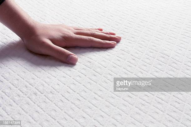 Mattresses on the human hand