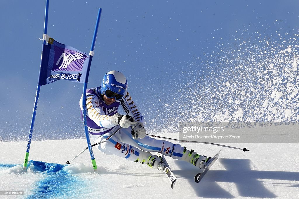 <a gi-track='captionPersonalityLinkClicked' href=/galleries/search?phrase=Matts+Olsson&family=editorial&specificpeople=5658817 ng-click='$event.stopPropagation()'>Matts Olsson</a> of Sweden competes during the Audi FIS Alpine Ski World Cup Men's Giant Slalom on January 10, 2015 in Adelboden, Switzerland.