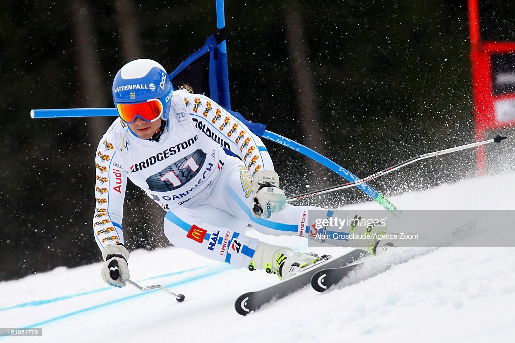 <a gi-track='captionPersonalityLinkClicked' href=/galleries/search?phrase=Matts+Olsson&family=editorial&specificpeople=5658817 ng-click='$event.stopPropagation()'>Matts Olsson</a> of Sweden competes during the Audi FIS Alpine Ski World Cup Men's Giant Slalom on March 01, 2015 in Garmisch-Partenkirchen, Germany.