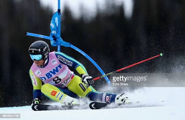 Matts Olsson of Sweden competes in the second run of the Birds of Prey World Cup Giant Slalom race on December 3 2017 in Beaver Creek Colorado