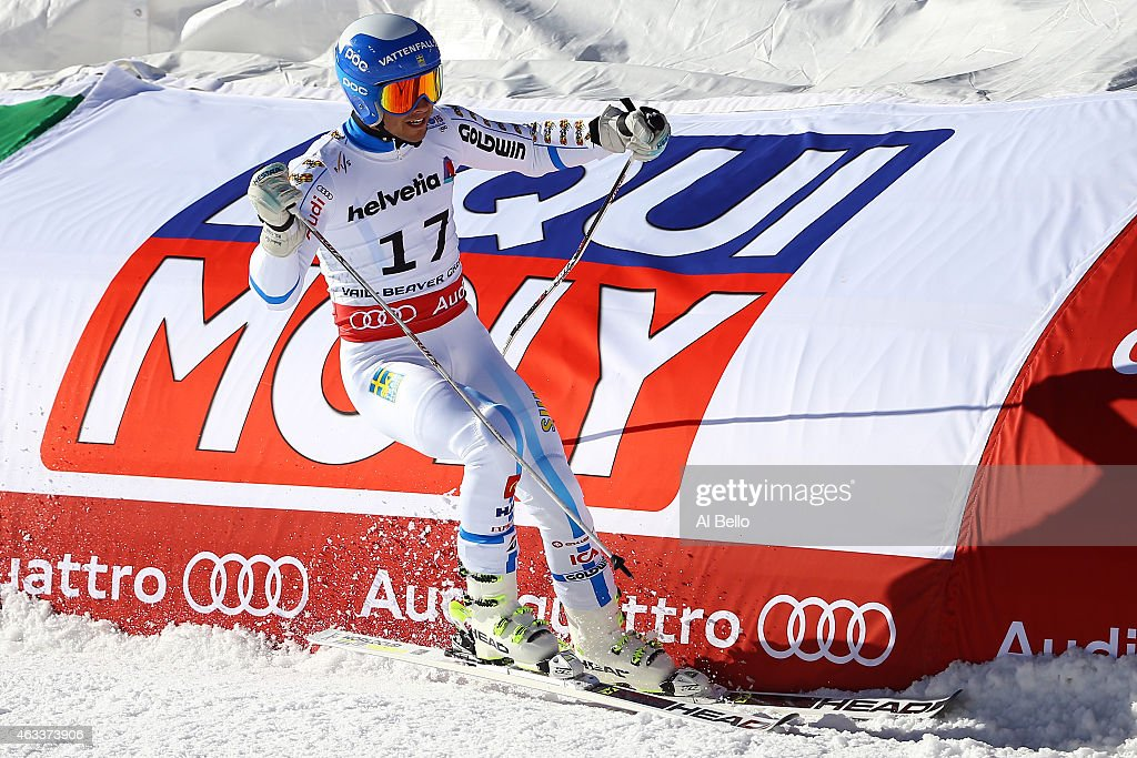 <a gi-track='captionPersonalityLinkClicked' href=/galleries/search?phrase=Matts+Olsson&family=editorial&specificpeople=5658817 ng-click='$event.stopPropagation()'>Matts Olsson</a> of Sweden ends his second run during the Men's Giant Slalom on Day 12 of the 2015 FIS Alpine World Ski Championships on February 13, 2015 in Beaver Creek, Colorado.