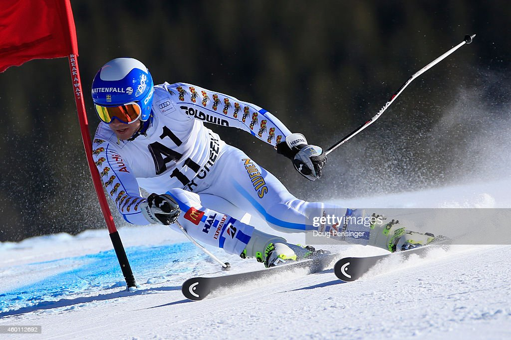 <a gi-track='captionPersonalityLinkClicked' href=/galleries/search?phrase=Matts+Olsson&family=editorial&specificpeople=5658817 ng-click='$event.stopPropagation()'>Matts Olsson</a> of Sweden skis to 22nd place in the Audi FIS World Cup Men's Giant Slalom Race on December 7, 2014 in Beaver Creek, Colorado.