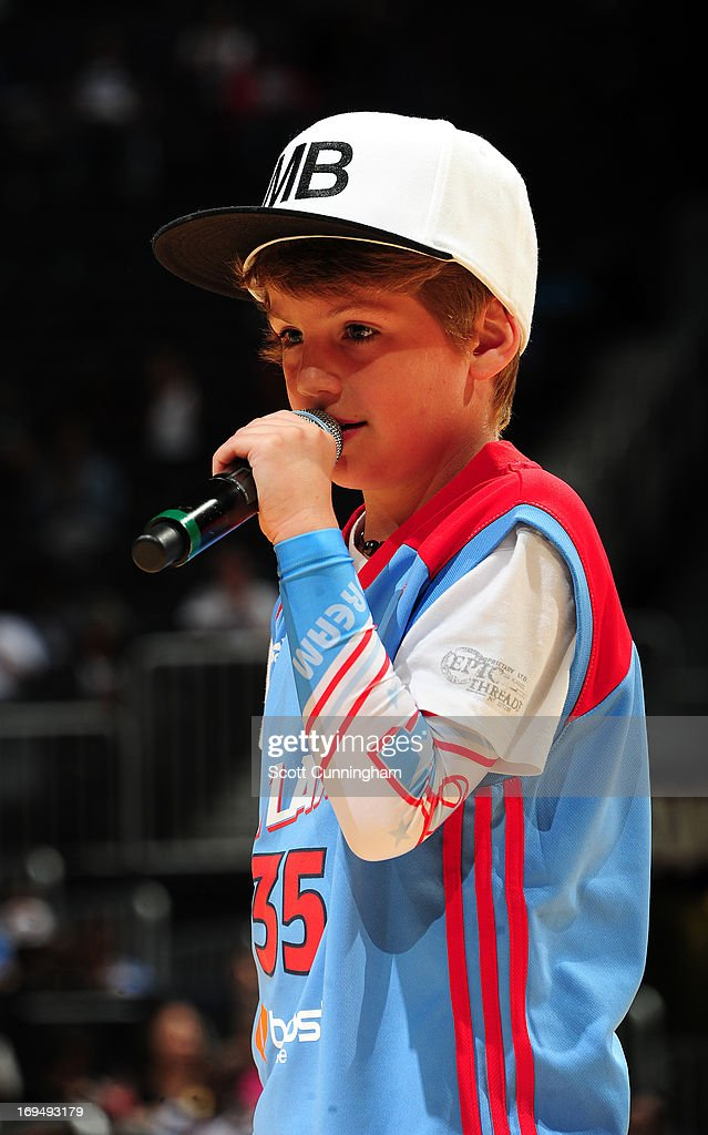 Matty B performs at halftime of the game between the Atlanta Dream and the Tulsa Shock at Philips Arena on May 25, 2013 in Atlanta, Georgia.