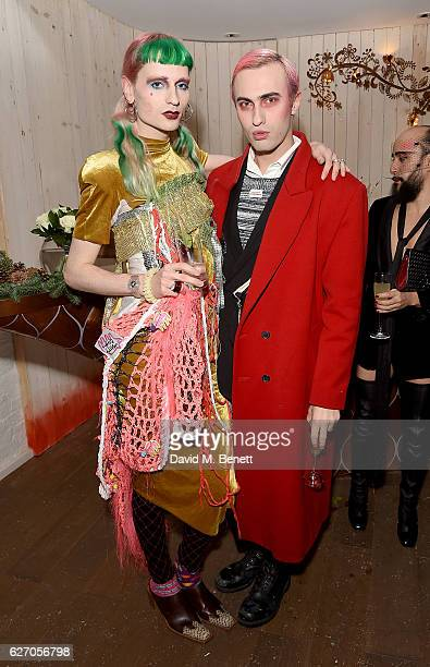 Matty Bovan and Charles Jeffrey attend the launch of 'The Reindeer 2016' an immersive Christmas dining experience by Bistrotheque at Sarabande...