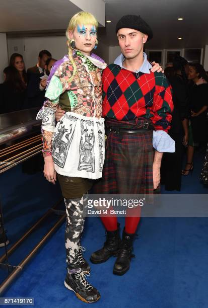 Matty Bovan attends a dinner hosted by Jonathan Newhouse and Albert Read for Edward Enninful to celebrate the December issue of British Vogue at the...