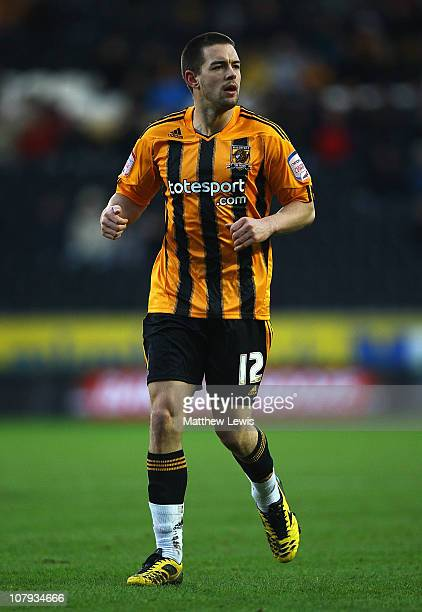 Matty Fryatt of Hull City in action during the FA Cup sponsored by Eon 3rd Round match between Hull City and Wigan Athletic at the KC Stadium on...