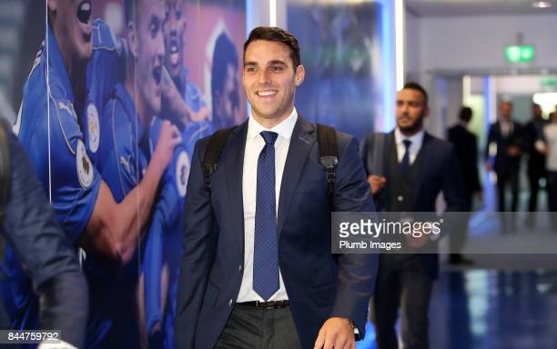 Matty James arrives ahead of the Premier League match between Leicester City and Chelsea at King Power Stadium on September 09 2017 in Leicester...
