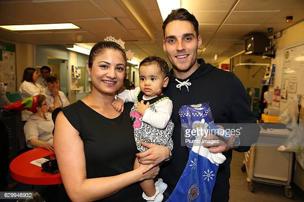Matty James during the Leicester City Players Deliver Christmas Presents to Patients at Leicester Royal Infirmary on December 15 2016 in Leicester...