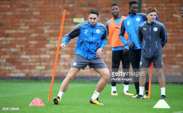 Matty James during the Leicester City training session at Belvoir Drive Training Complex on August 09 2017 in Leicester United Kingdom