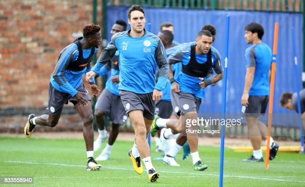 Matty James during the Leicester City training session at Belvoir Drive Training Complex on August 17 2017 in Leicester United Kingdom