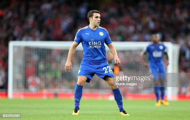 Matty James of Leicester City during the Premier League match between Arsenal and Leicester City at Emirates Stadium on August 11th 2017 in London...