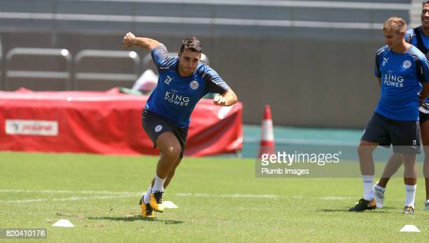 Matty James of Leicester City during the training session in Hong Kong ahead of the Premier League Asia Trophy final against Liverpool on July 21...