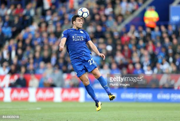 Matty James of Leicester City in action during the Premier League match between Leicester City and Chelsea at King Power Stadium on September 09 2017...