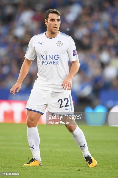 Matty James of leicester in action during the preseason friendly match between Leicester City and Borussia Moenchengladbach at The King Power Stadium...