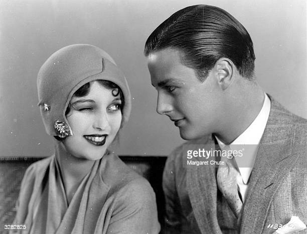 Matty Kemp receives a wink from Loretta Young in a scene from 'The Magnificent Flirt' directed by Harry D'Albadie D'Arrast for Paramount