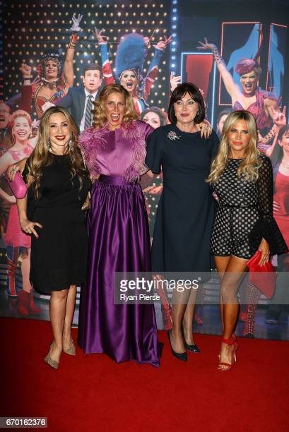 Matty Samaei Athena Levendi Lisa Oldfield and Melissa Tkautz arrives for the opening night of Cyndi Lauper's Kinky Boots at Capitol Theatre on April...
