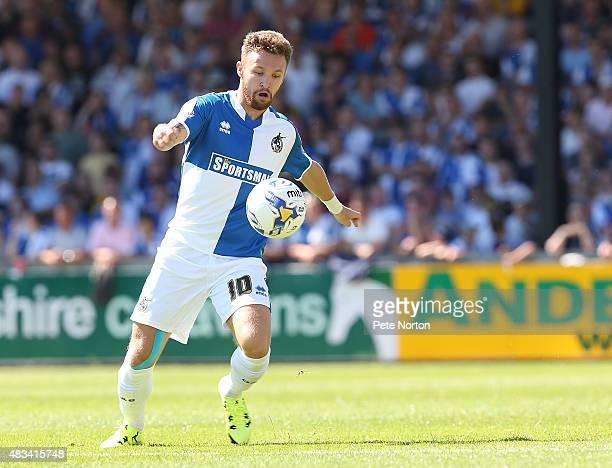 Matty Taylor of Bristol Rovers in action during the Sky Bet League Two match between Bristol Rovers and Northampton Town at Memorial Stadium on...