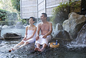 Onsen; is a Japanese hot spring. Rotenburo; is an outdoor bath. Sake; is a Japanese word meaning alcoholic beverage brewed mainly from rice and known in Japan as either nihonshu.