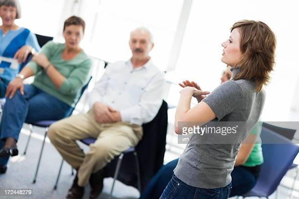 Mature adults on seminar