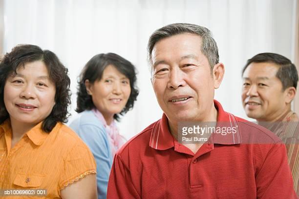 Mature and senior couple, smiling