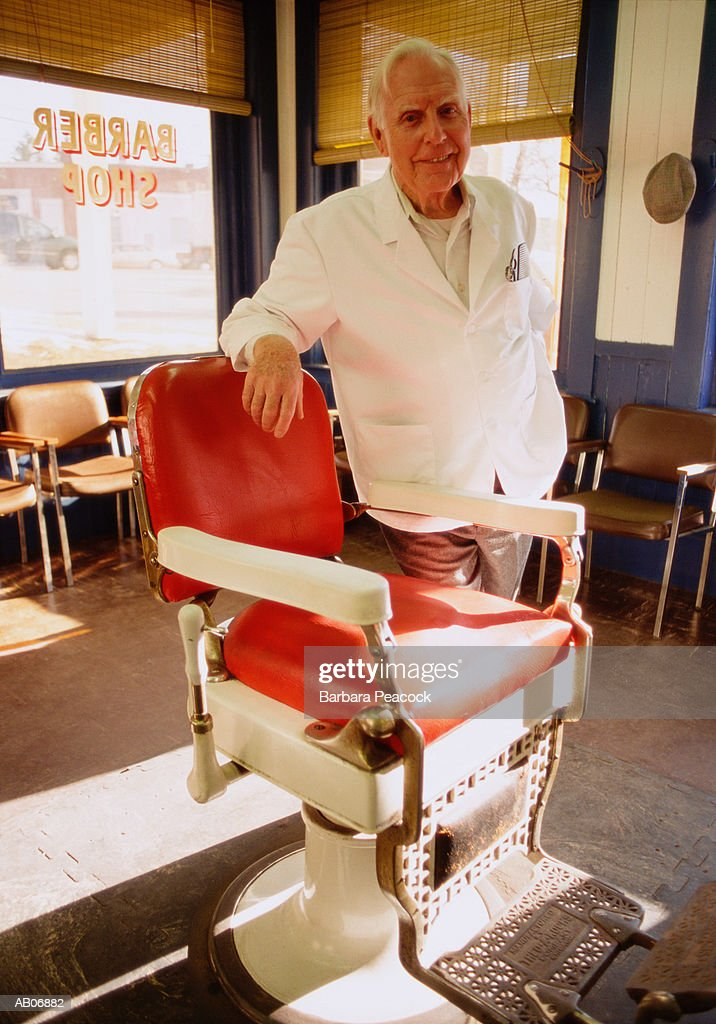 Mature barber, portrait : Stock Photo