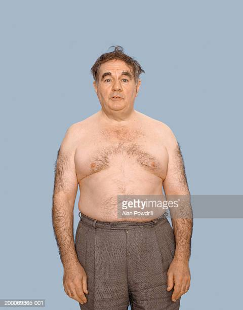 Mature bare chested man, portrait