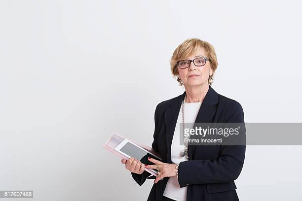 Mature business woman with black suit jacket