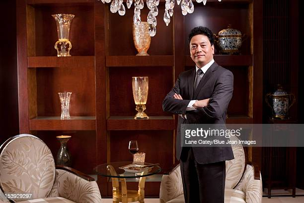 Mature businessman in a luxurious room