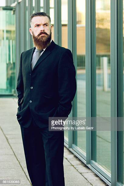 Mature Businessman outside his office