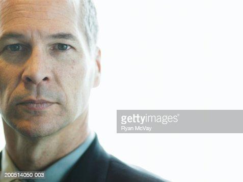 Mature businessman, portrait, close-up : Stock Photo