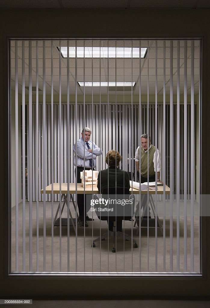 Mature businessmen and woman in meeting : Stock Photo