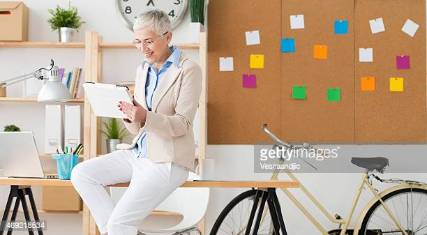 Mature businesswoman at office